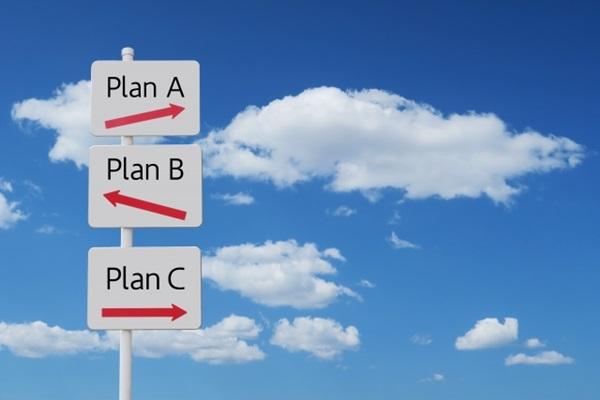 PlanA,PlanB,PlanCの看板
