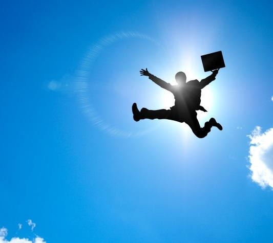 飛躍するサラリーマン