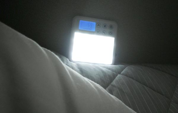 朝起きた時に光目覚ましの光を浴びるときの目線