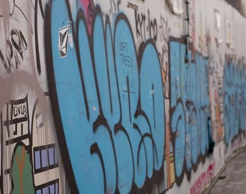 スラム街にある壁の落書き